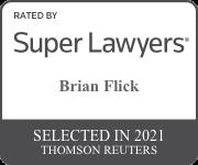 Brian Flick Superlawyer badge