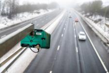 Speed camera above highway