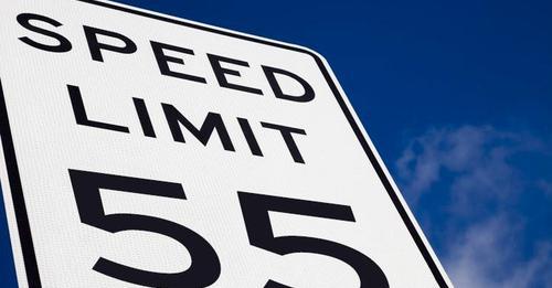 55 mile per hour sign